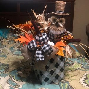 New Fall Owl Centerpiece